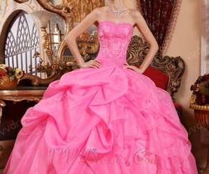 quinceanera dress, ball gown, and dress image