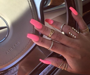 nails, luxury, and pink image