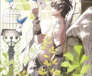 anime, anime boy, and angel image