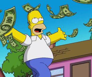 money and simpsons image