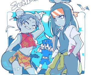 rock lee, neji hyuuga, and team guy image