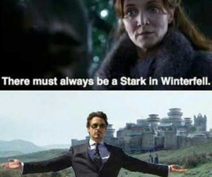 stark, tony stark, and game of thrones image