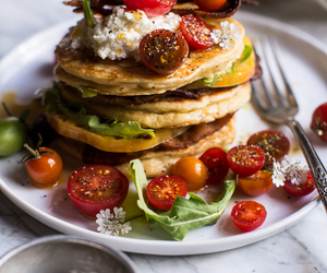 food, foodporn, and pancakes image