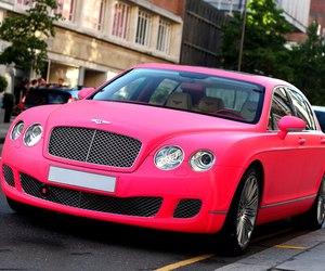 car, pink, and Bentley image