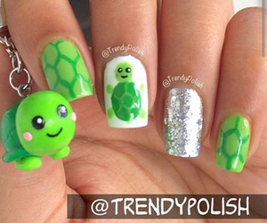 nails, turtle, and cute image