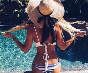bikini, hair, and holidays image