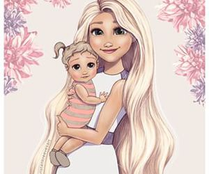 tangled, art, and baby image