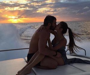 bikini, couple, and hair image