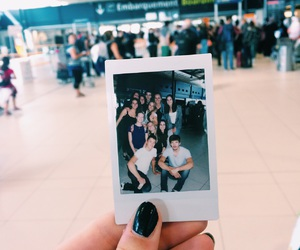 airport, canada, and polaroid image