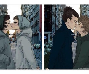 larry, louis and harry, and louis tomlinson image