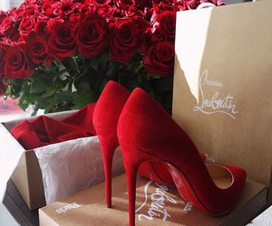 shoes, red, and rose image