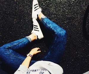 girl, adidas, and boy image