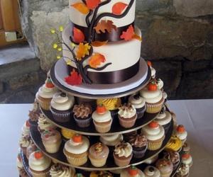 autumn, cake, and cupcake image