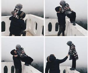 couple, hijab, and lové image