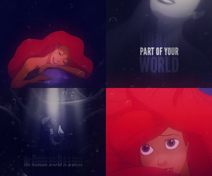 disney, edit, and the little mermaid image