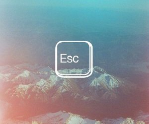 escape, travel, and esc image