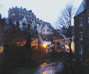 night, city, and light image