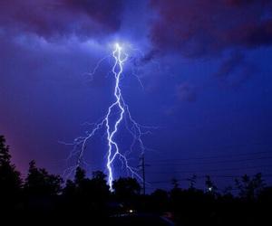 sky, blue, and lightning image