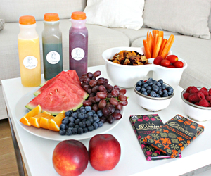 food, juice, and snack image