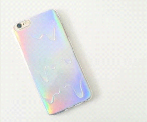 beautiful, holographic, and iphone image