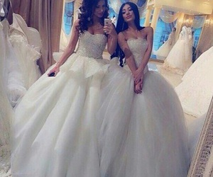 wedding, dress, and friends image