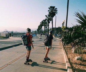 skate, summer, and couple image