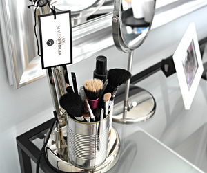 makeup, Brushes, and fashion image