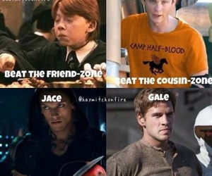 harry potter, gale, and percy jackson image