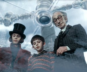 charlie and the chocolate factory, johnny depp, and tim burton image