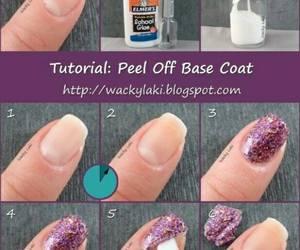 nails, diy, and glitter image