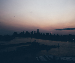 city, indie, and sunset image