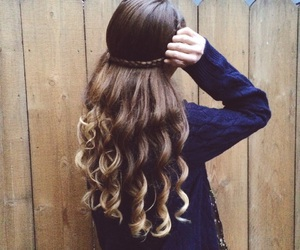 autumn, curly hair, and fall image