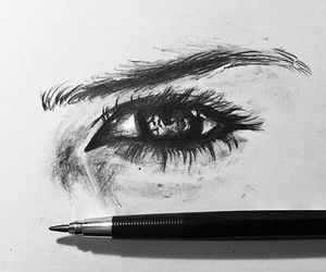 black and white, cry, and drawing image