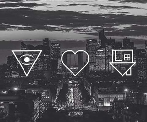black and white, city, and music image