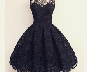 black dress, cool, and elegant image