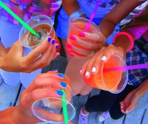 colors, girls, and beverages image