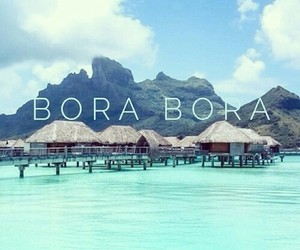 bora bora, summer, and sea image