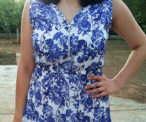 blue, style, and dress image