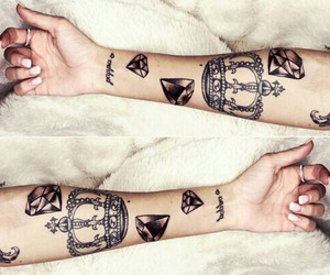 diamonds and tattoo image