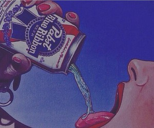 Pabst Blue Ribbon and pabst blue ribbon on ice image