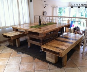 dining table, wood dining table, and dining table chairs image