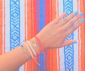 accessories, blue, and bracelets image
