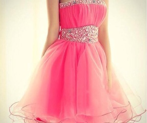 dress, pink, and short image