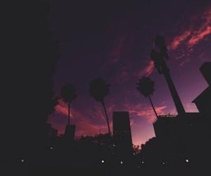 sky, city, and night image