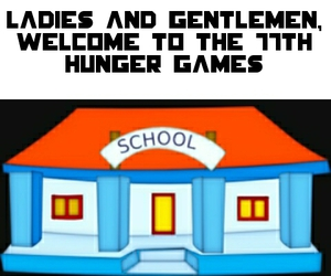 school and hunger games image