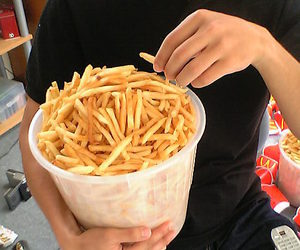 food, yummy, and French Fries image