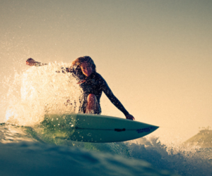 girl, surf, and surfing image