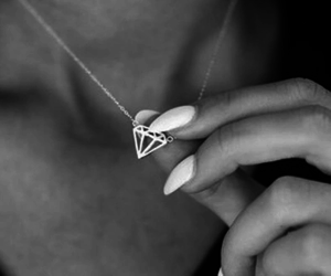 fashion, necklace, and b&w image