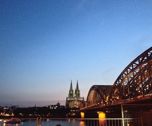 by night, cologne, and koeln image