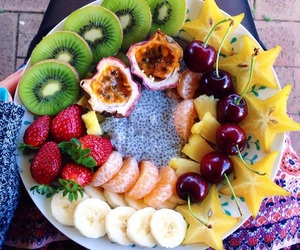 food, fruit, and banana image